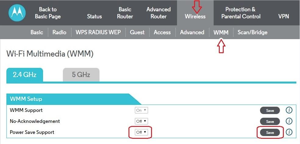 Wireless Optimization for MG7540, MG7550, MG7700 – Motorola