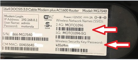 Changing the Wireless Network Name (SSID) and Password