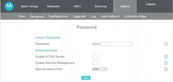 changing your login password for the mr2600  u2013 motorola mentor