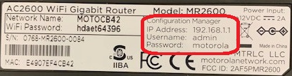Where Can I Find The User Name Password And Ip Address