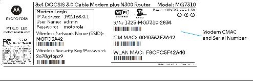 motorola surfboard serial number lookup